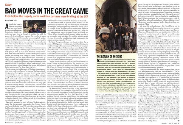 Article Preview: BAD MOVES IN THE GREAT GAME, April 2002 | Maclean's