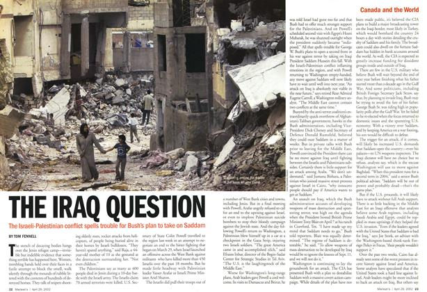 Article Preview: THE IRAQ QUESTION, April 2002 | Maclean's