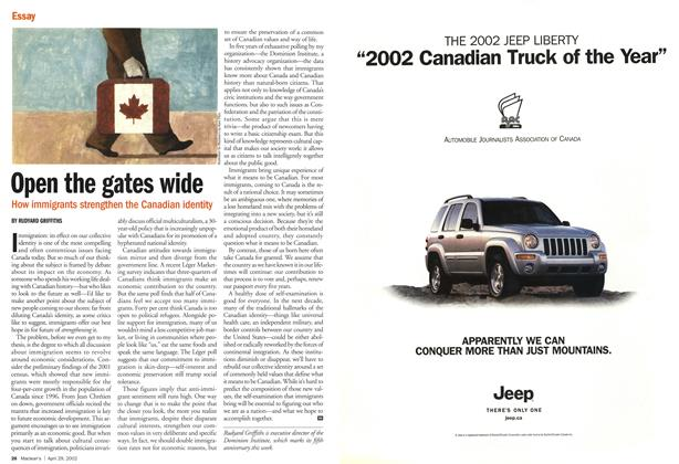 Article Preview: Open the gates wide, April 2002 | Maclean's