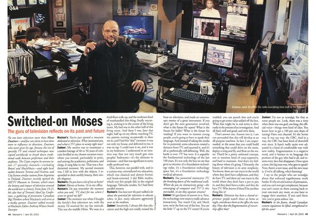 Article Preview: Switched-on Moses, April 2002 | Maclean's