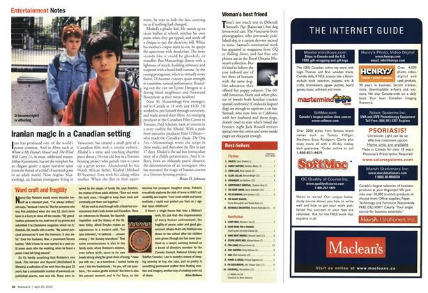 Article Preview: Word craft and fragility, April 2002 | Maclean's