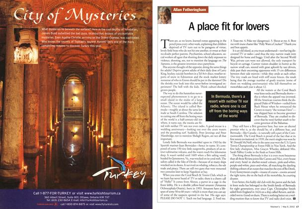 Article Preview: A place fit for lovers, May 2002 | Maclean's