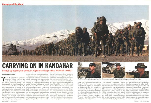 Article Preview: CARRYING ON IN KANDAHAR, May 2002 | Maclean's