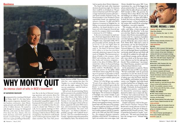 Article Preview: WHY MONTY QUIT, May 2002 | Maclean's