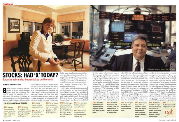Article Preview: STOCKS: HAD 'X' TODAY?, May 2002 | Maclean's