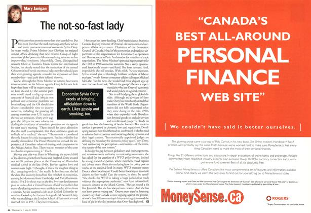 Article Preview: The not-so-fast lady, May 2002 | Maclean's