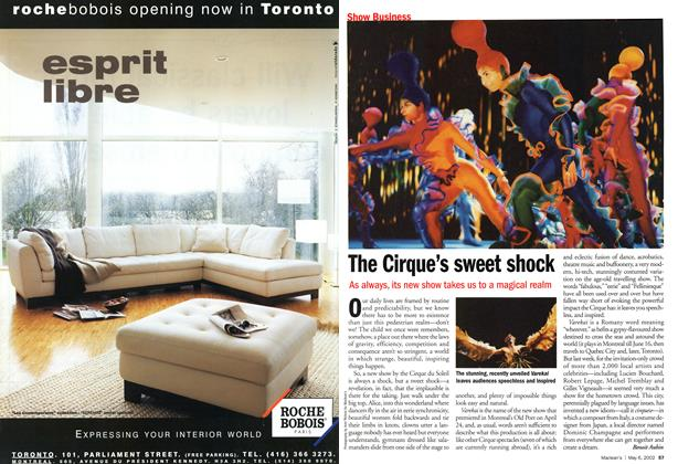 Article Preview: The Cirque's sweet shock, May 2002 | Maclean's