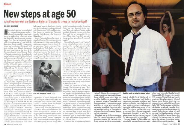 Article Preview: New steps at age 50, May 2002 | Maclean's