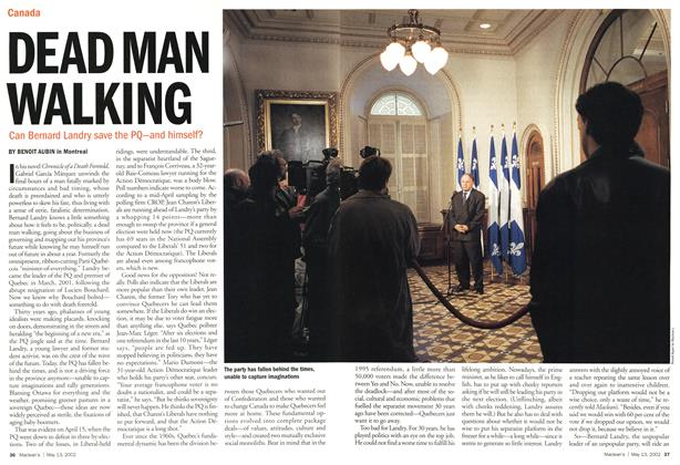Article Preview: DEAD MAN WALKING, May 2002 | Maclean's
