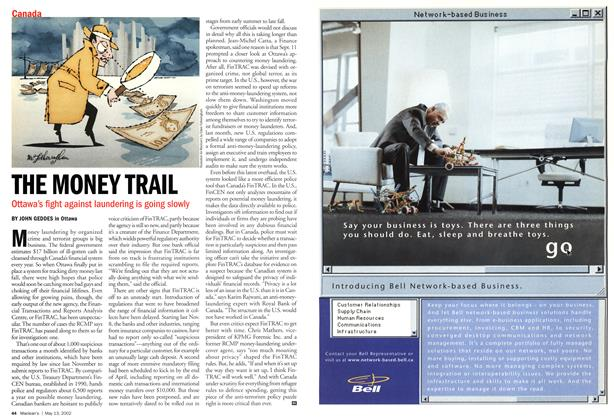 Article Preview: THE MONEY TRAIL, May 2002 | Maclean's