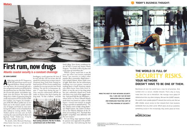 Article Preview: First rum, now drugs, May 2002 | Maclean's