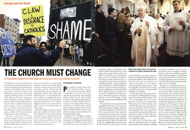 Article Preview: THE CHURCH MUST CHANGE, May 2002 | Maclean's