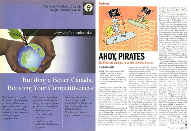 Article Preview: AHOY, PIRATES, May 2002 | Maclean's