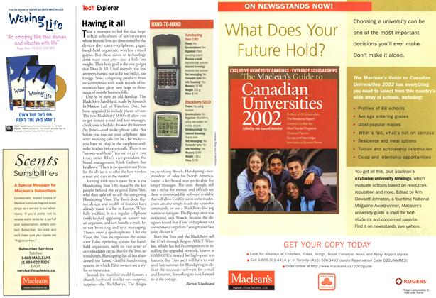 Article Preview: Having it all, May 2002   Maclean's