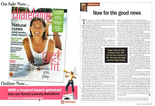Article Preview: Now for the good news, May 2002 | Maclean's
