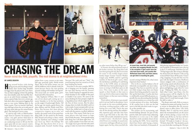 Article Preview: CHASING THE DREAM, May 2002 | Maclean's