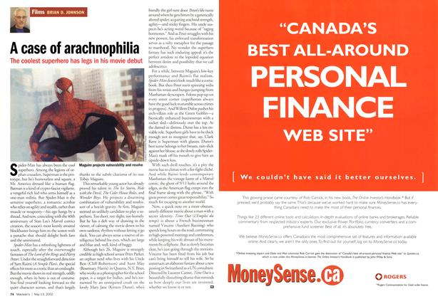 Article Preview: A case of arachnophilia, May 2002 | Maclean's