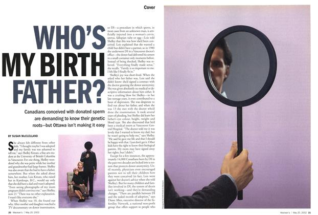 Article Preview: WHO'S MY BIRTH FATHER?, May 2002 | Maclean's