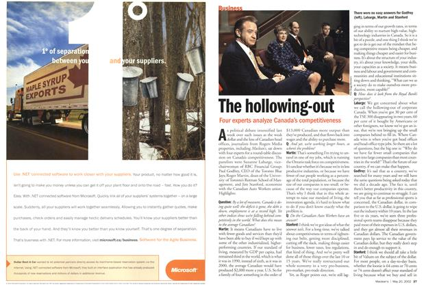 Article Preview: The hollowing-out, May 2002 | Maclean's