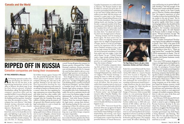 Article Preview: RIPPED OFF IN RUSSIA, May 2002 | Maclean's