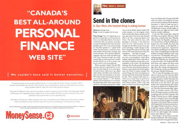 Article Preview: Send in the clones, May 2002 | Maclean's