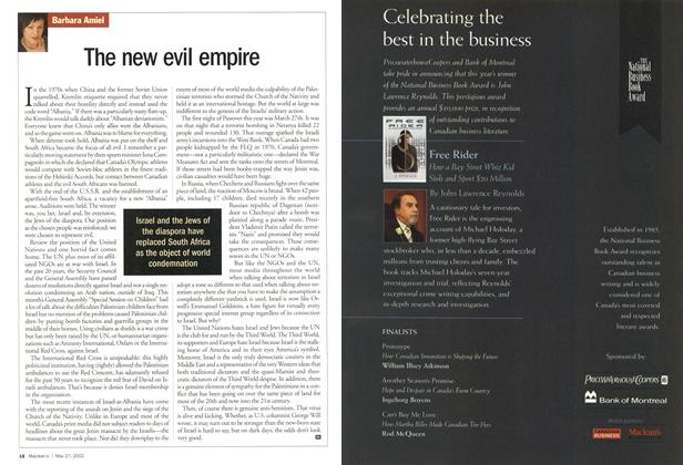 Article Preview: The new evil empire, May 2002 | Maclean's