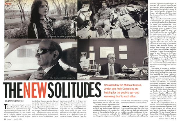 Article Preview: THE NEW SOLITUDES, May 2002 | Maclean's