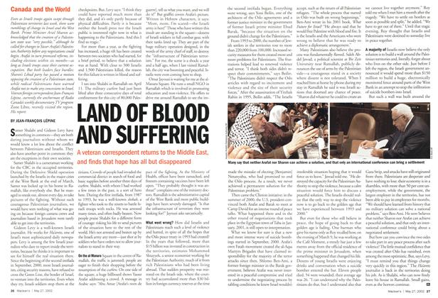 Article Preview: LAND OF BLOOD AND SUFFERING, May 2002 | Maclean's