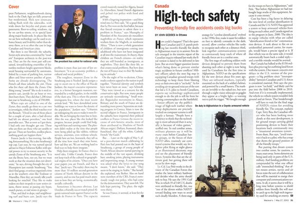 Article Preview: High-tech safety, May 2002 | Maclean's