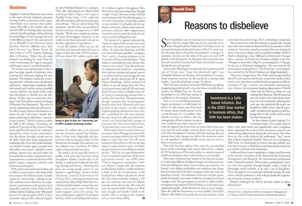Article Preview: Reasons to disbelieve, May 2002 | Maclean's