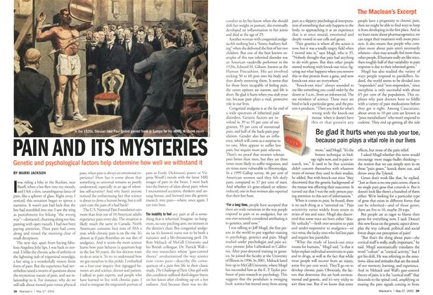 Article Preview: PAIN AND ITS MYSTERIES, May 2002 | Maclean's