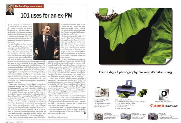 Article Preview: 101 uses for an ex-PM, May 2002 | Maclean's