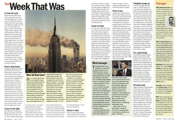Article Preview: The Week That Was, May 2002 | Maclean's