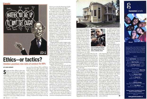 Article Preview: Ethics-or tactics?, June 2002 | Maclean's