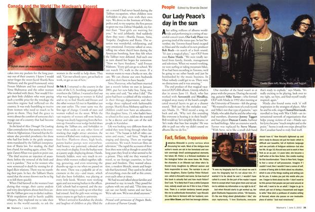 Article Preview: Our Lady Peace's day in the sun, June 2002 | Maclean's