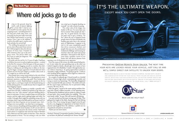 Article Preview: Where old jocks go to die, June 2002 | Maclean's