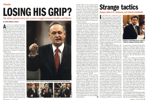 Article Preview: Strange tactics, June 2002 | Maclean's