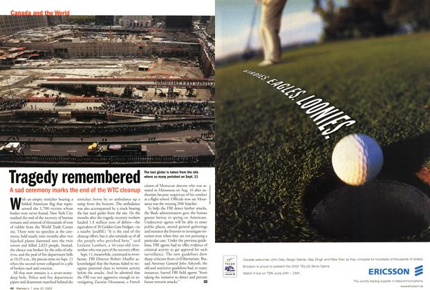 Article Preview: Tragedy remembered, June 2002 | Maclean's
