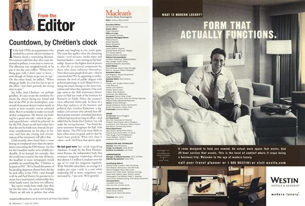 Article Preview: Countdown, by Chrétien's clock, June 2002 | Maclean's