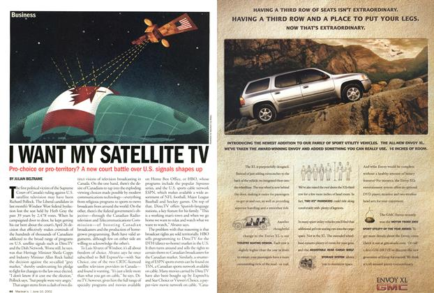 Article Preview: I WANT MY SATELLITE TV, June 2002 | Maclean's