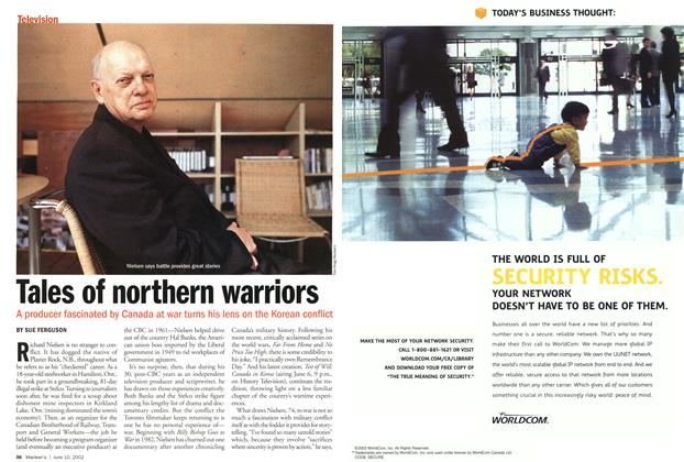 Article Preview: Tales of northern warriors, June 2002 | Maclean's