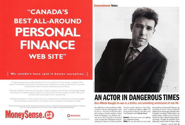 Article Preview: AN ACTOR IN DANGEROUS TIMES, June 2002 | Maclean's