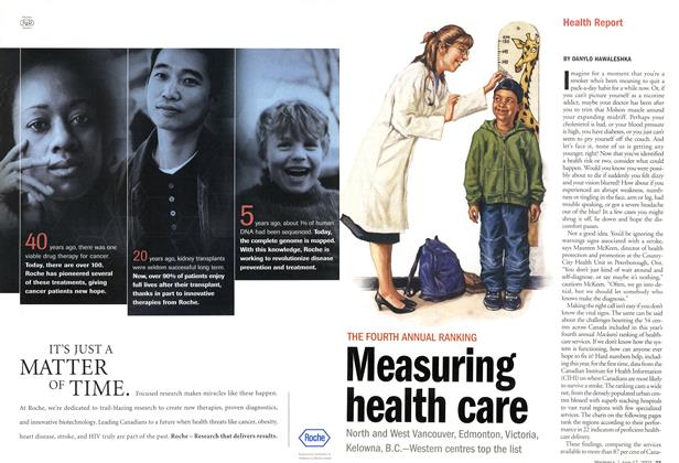 Article Preview: THE FOURTH ANNUAL RANKING Measuring health care, June 2002 | Maclean's