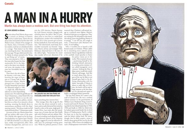 Article Preview: A MAN IN A HURRY, June 2002 | Maclean's
