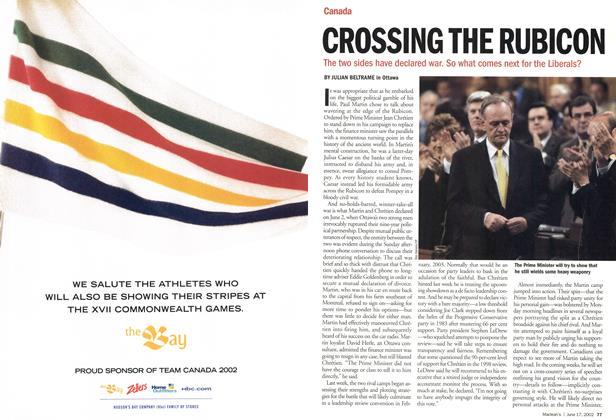 Article Preview: CROSSING THE RUBICON, June 2002 | Maclean's
