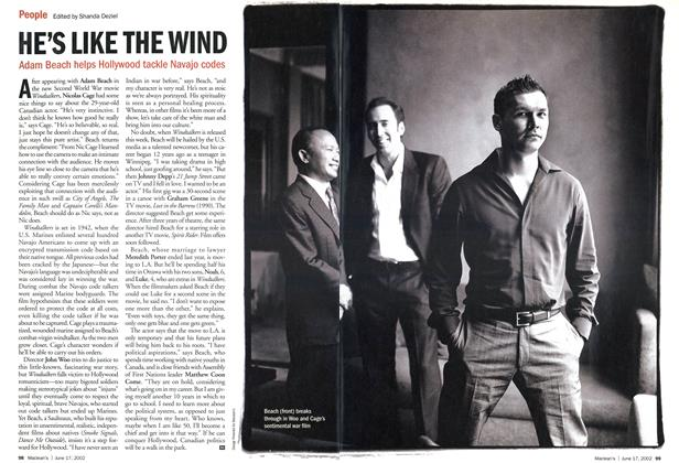 Article Preview: HE'S LIKE THE WIND, June 2002 | Maclean's