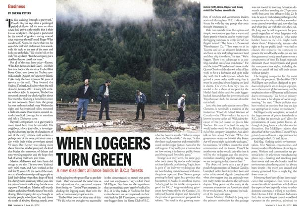 Article Preview: WHEN LOGGERS TURN GREEN, June 2002 | Maclean's