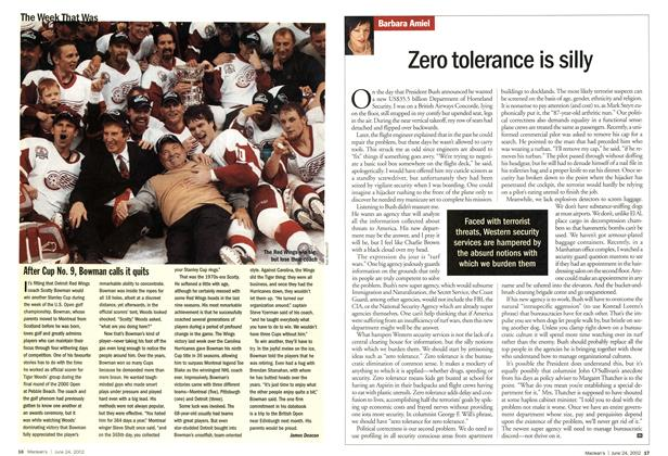 Article Preview: Zero tolerance is silly, June 2002 | Maclean's