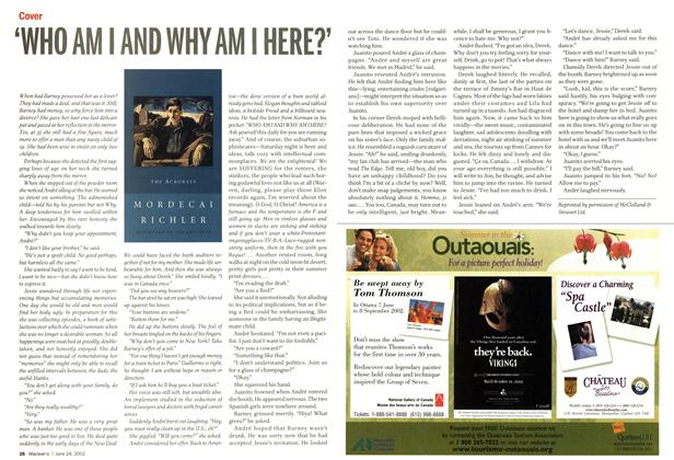 Article Preview: 'WHO AM I AND WHY AM I HERE?', June 2002 | Maclean's