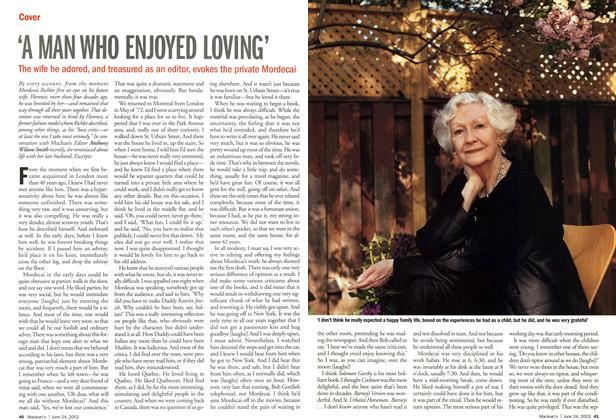 Article Preview: 'A MAN WHO ENJOYED LOVING', June 2002 | Maclean's